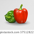 Vector realistic illustration of sweet pepper. 3d 37512822