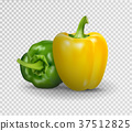 Vector realistic illustration of sweet pepper. 3d 37512825