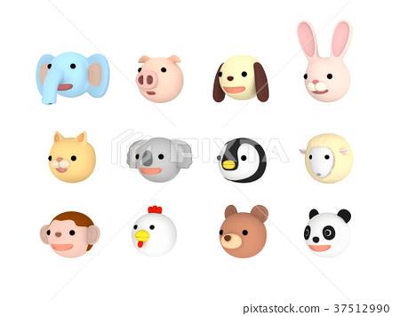 動物插圖設置左面臨 37512990