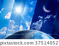 Weather forecast background, day and night 37514052