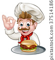 chef, burger, hamburger 37514186