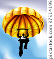 Golden Parachute Businessman Concept 37514195
