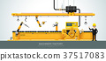 factory, vector, conveyor 37517083