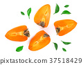 persimmon, section, fruit 37518429