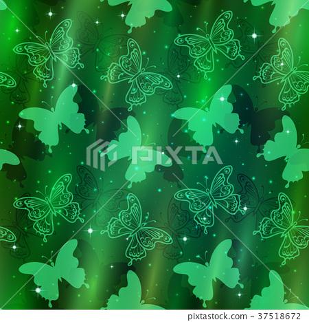Seamless Pattern, Butterflies 37518672
