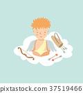 Cupid sitting in meditation pose 37519466