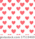 Red  hearts seamless pattern 37519469