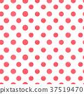 red polka dot  seamless pattern. 37519470