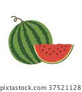 Vector illustration logo for whole ripe red fruit 37521128