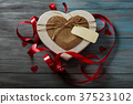 Gift box in heart shape 37523102