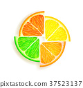 grapefruit, vector, lemon 37523137