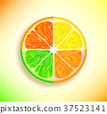 lemon, lime, orange 37523141