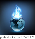 blue flame and planet earth 37523171