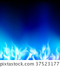 blue flame on a black background 37523177