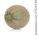 Ripe cantaloupe melon on white background 37524794