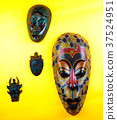 Wooden Asian Mask Studio quality light  37524951