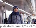 Man in a subway train 37525975
