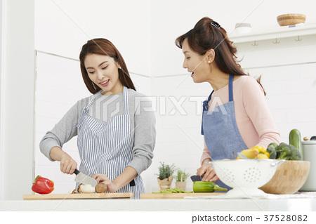 엄마,딸,생활,한국인 37528082