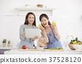 媽媽,女兒,生活,韓國人 37528120