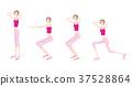 瑜伽妇女的例证 37528864