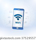 Smartphone with wireless zone, Vector illustration 37529557