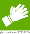 Clapping applauding hands icon green 37533309