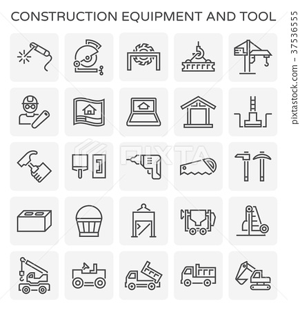 construction equipment icon 37536555