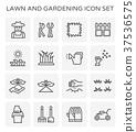 lawn gardening icon 37536575