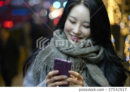 서울 명동 밤거리 37542917