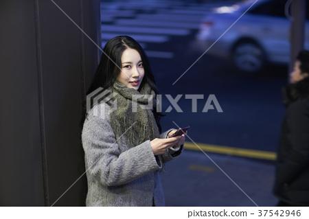 서울 명동 밤거리 37542946