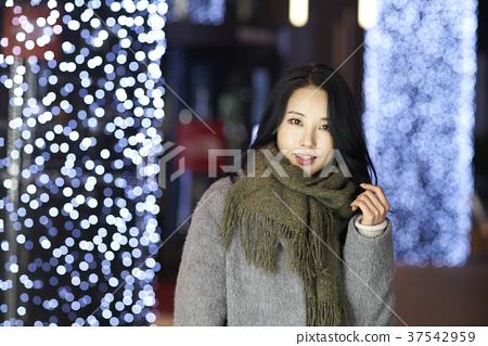 서울 명동 밤거리 37542959