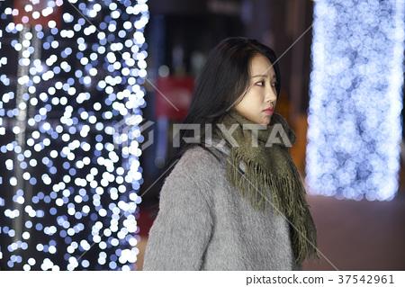 서울 명동 밤거리 37542961
