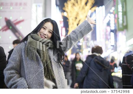 서울 명동 밤거리 37542998