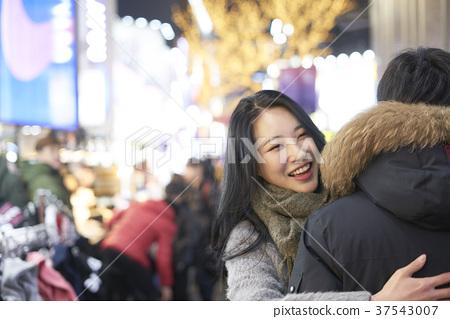 서울 명동 밤거리 37543007