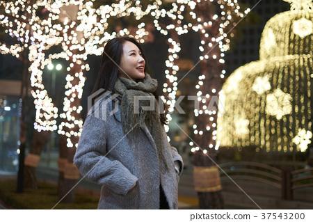서울 명동 밤거리 37543200