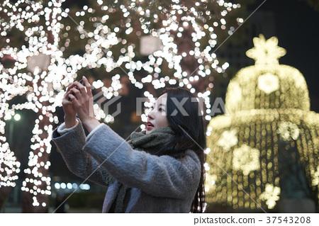 서울 명동 밤거리 37543208