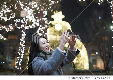 서울 명동 밤거리 37543211