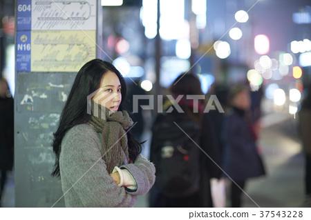 서울 명동 밤거리 37543228