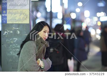 서울 명동 밤거리 37543229