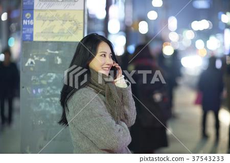 서울 명동 밤거리 37543233