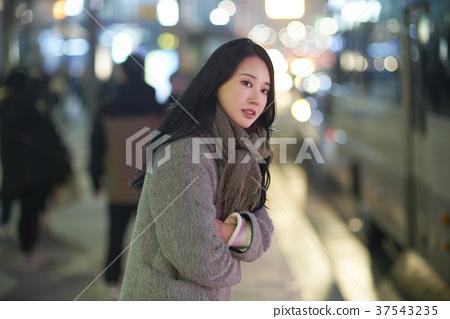 서울 명동 밤거리 37543235