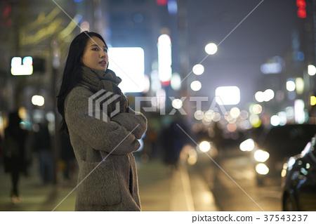 서울 명동 밤거리 37543237