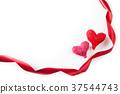 หัวใจ,ริบบิ้น,งานฝีมือ 37544743