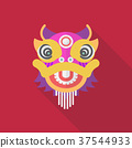 Chinese dancing lion in flat style 37544933
