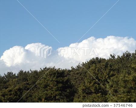 蓝天 蓝蓝的天空 蓝色 37546746