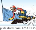 滑雪板平行平行旋轉 37547135