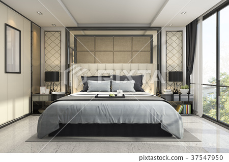 modern luxury classic bedroom with marble decor 37547950