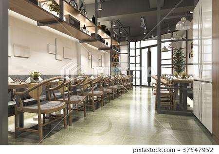 loft wood luxury hotel reception and cafe lounge 37547952