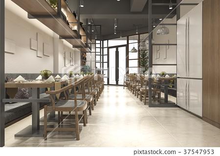 loft wood luxury hotel reception and cafe lounge 37547953