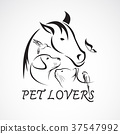 Vector group of pets. Animal.  37547992